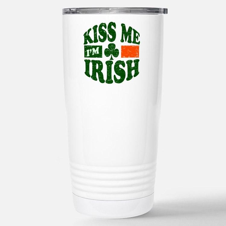 Kiss Me Im Irish Travel Mug