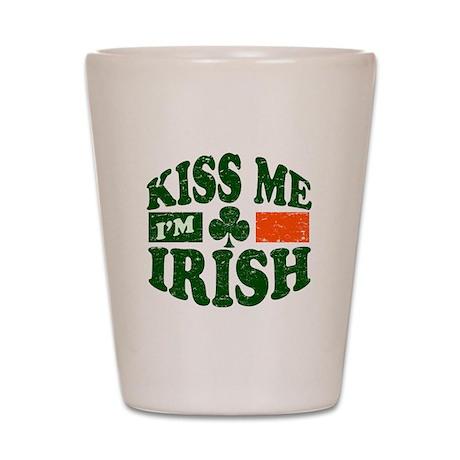 Kiss Me Im Irish Shot Glass