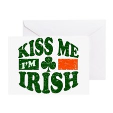 Kiss Me Im Irish Greeting Card