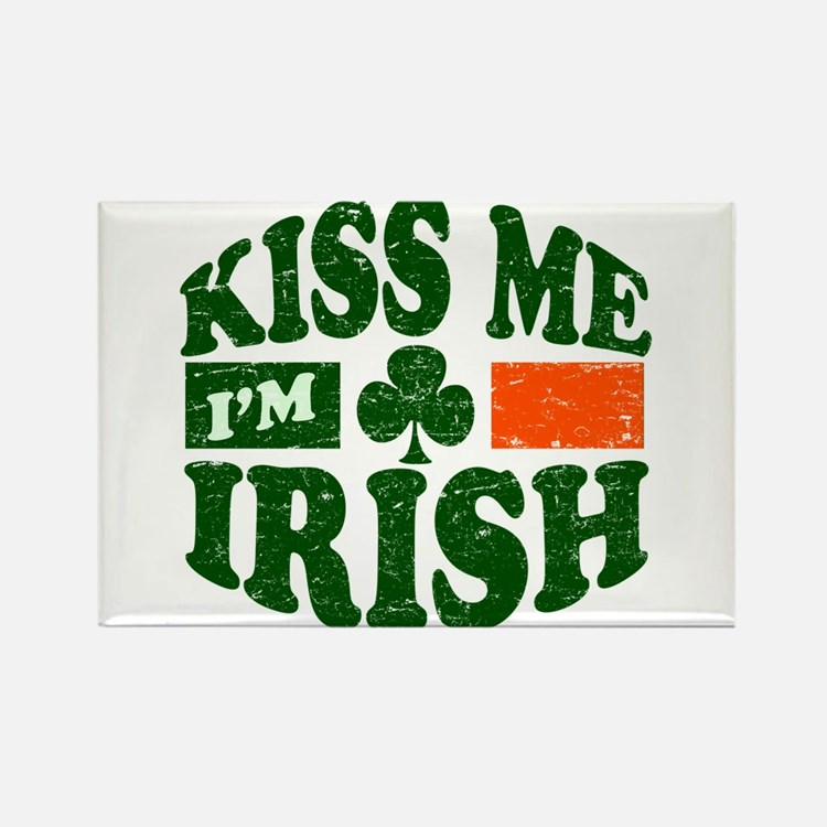 Kiss Me Im Irish Rectangle Magnet