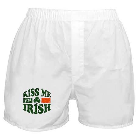 Kiss Me Im Irish Boxer Shorts
