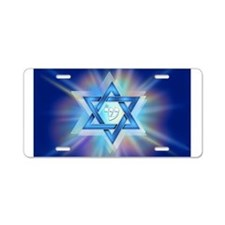 Radiant Magen David Aluminum License Plate