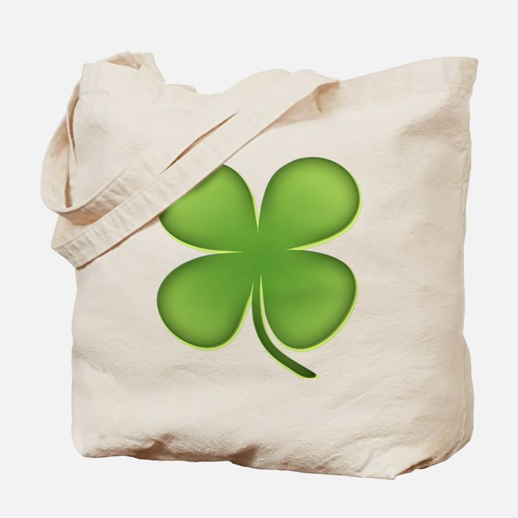 Lucky Irish Four Leaf Clover Tote Bag