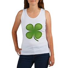 Lucky Irish Four Leaf Clover Women's Tank Top