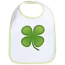 Lucky Irish Four Leaf Clover Bib