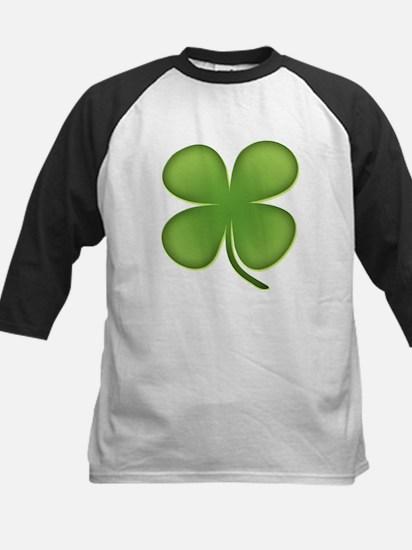 Lucky Irish Four Leaf Clover Kids Baseball Jersey