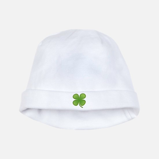 Lucky Irish Four Leaf Clover baby hat