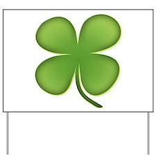 Lucky Irish Four Leaf Clover Yard Sign