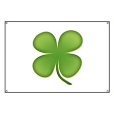 Lucky Irish Four Leaf Clover Banner