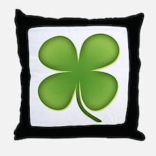 Lucky Irish Four Leaf Clover Throw Pillow