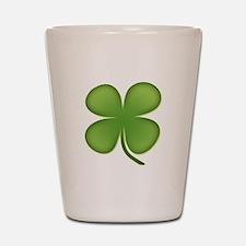 Lucky Irish Four Leaf Clover Shot Glass