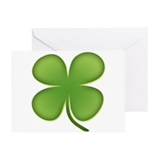 Lucky Irish Four Leaf Clover Greeting Card