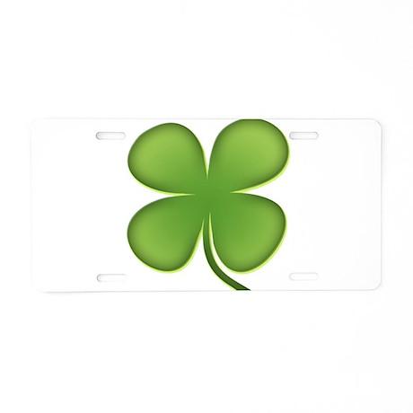 Lucky Irish Four Leaf Clover Aluminum License Plat
