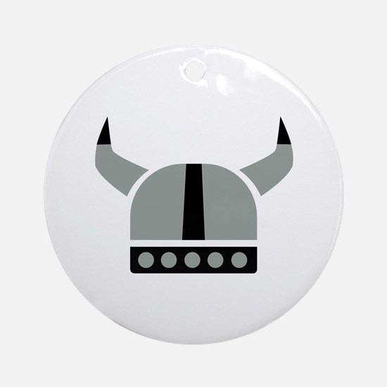Viking helmet Ornament (Round)