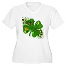 Lucky Irish Four Leaf Clover T-Shirt