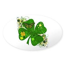 Lucky Irish Four Leaf Clover Decal