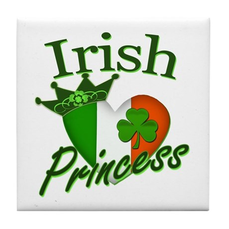 Irish Princess St Patricks Day Tile Coaster