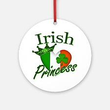 Irish Princess St Patricks Day Ornament (Round)