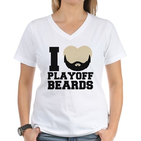 Black/Gold Women's V-Neck T-Shirt