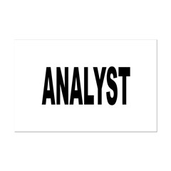 Analyst Posters