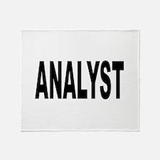 Analyst Throw Blanket