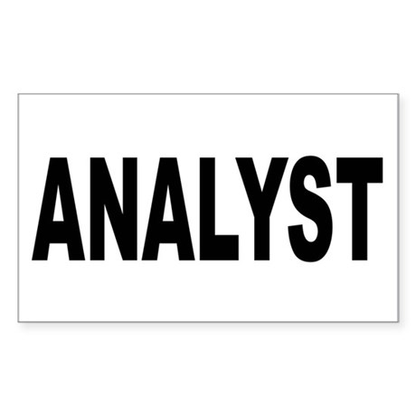 Analyst Sticker (Rectangle)