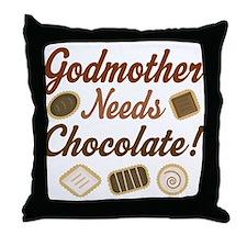 Godmother Needs Chocolate Throw Pillow