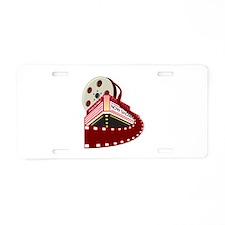 theater cinema film Aluminum License Plate
