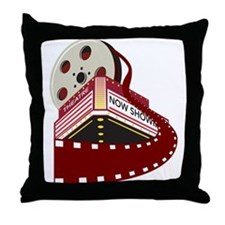 theater cinema film Throw Pillow