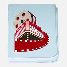 theater cinema film baby blanket