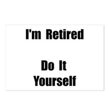 Retired Do It Yourself Postcards (Package of 8)