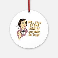 Funny Retro Coffee Humor Ornament (Round)