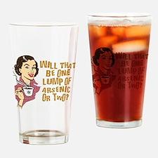 Funny Retro Coffee Humor Drinking Glass