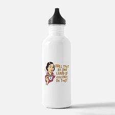 Funny Retro Coffee Humor Water Bottle