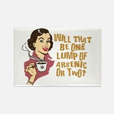 Funny Retro Coffee Humor Rectangle Magnet (10 pack