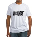 Accountant Fitted T-Shirt