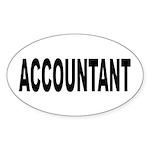Accountant Sticker (Oval 10 pk)