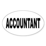Accountant Sticker (Oval 50 pk)