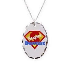 Funny Dentist Dental Humor Necklace Oval Charm