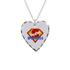 Funny Dentist Dental Humor Necklace Heart Charm