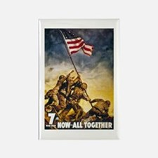 Now All Together American Flag Rectangle Magnet