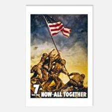 Now All Together American Flag Postcards (Package