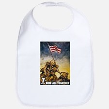 Now All Together American Flag Bib