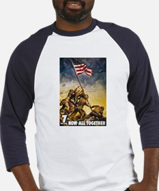 Now All Together American Flag (Front) Baseball Je