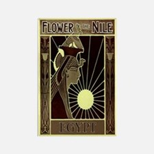 Flower of the Nile Rectangle Magnet