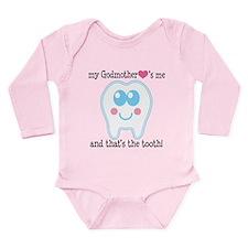 Godmother Hearts Me Long Sleeve Infant Bodysuit
