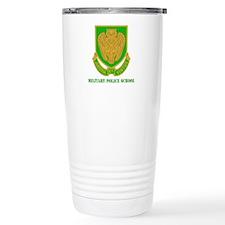 DUI - Military Police School with Text Travel Mug