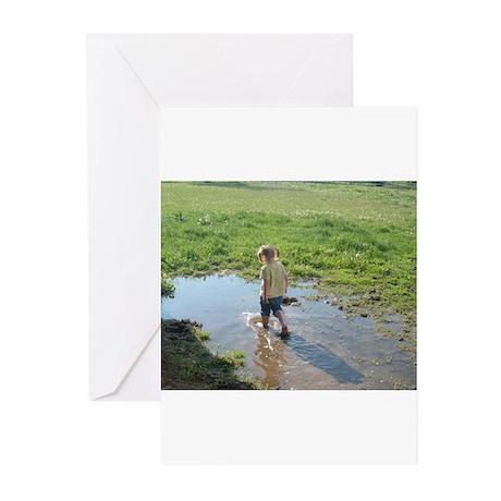 Girl splashing Greeting Cards (Pk of 10)
