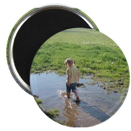 """Girl splashing 2.25"""" Magnet (10 pack)"""