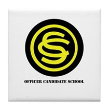 DUI - Officer Candidate School with Text Tile Coas